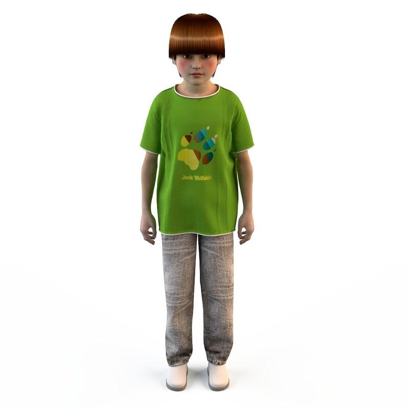 fashion clothing children baby s 3d model
