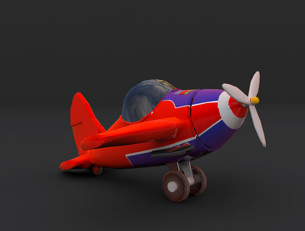 3d model toon plane