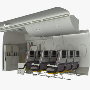 emergency exit a380 3d obj