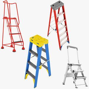 ladder stepladder 01 3d max