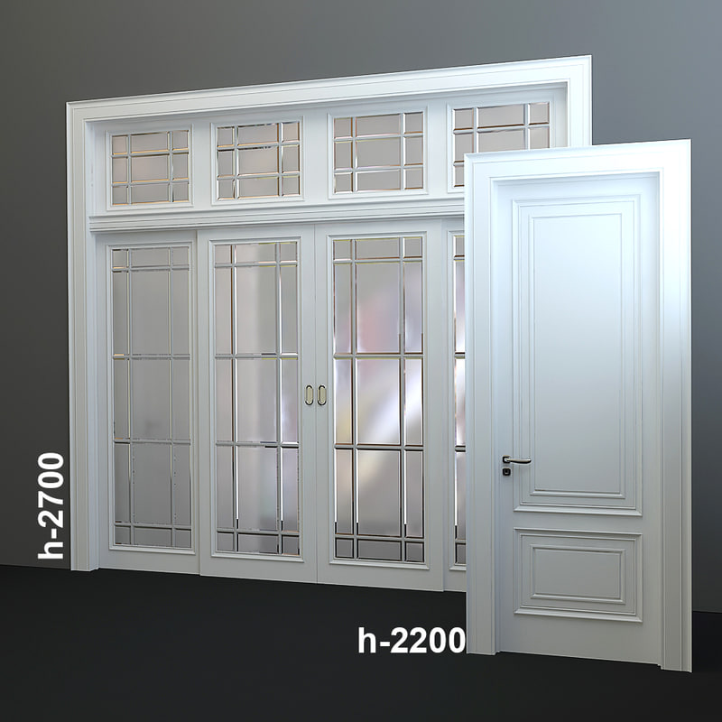wood doors 3d model