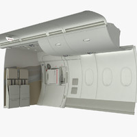 A380 Emergency Exit with Divider and Wall section