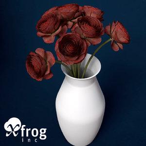 buttercup flowering plants 3d model