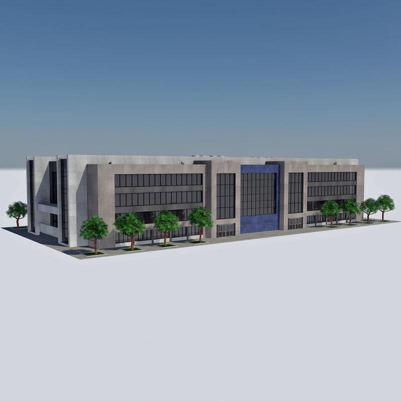 - city office building 3d model