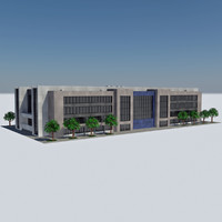 - city office building 3d model