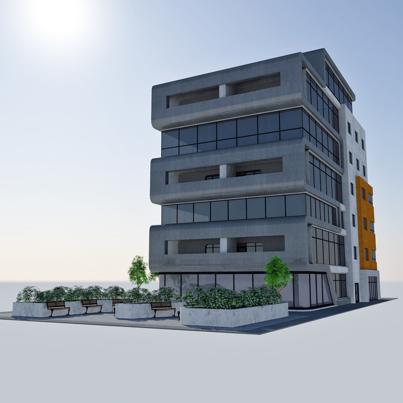 3d model - city office building