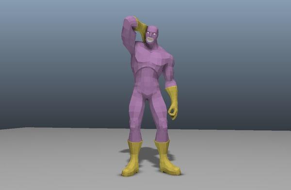 milkshake man ready superhero 3d fbx