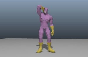 milkshake man ready superhero 3d fbx