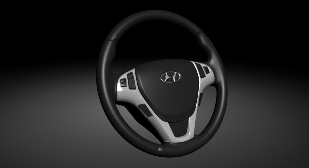 steering wheel hyundai 3d max