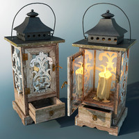 candle lantern 3d max