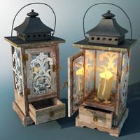 candle lantern 3d max