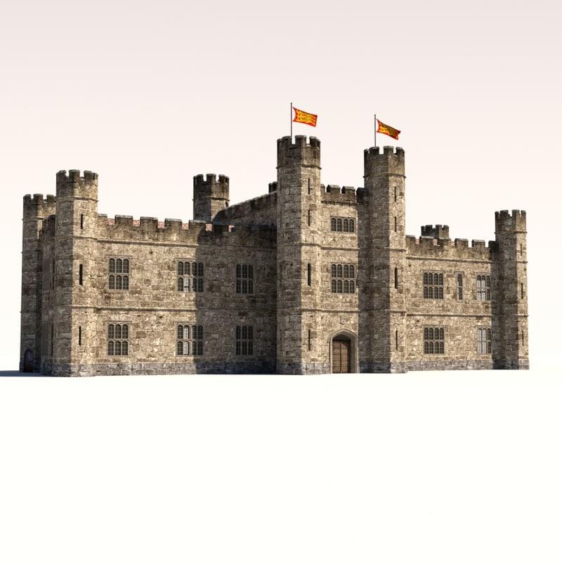 leeds castle 3d obj