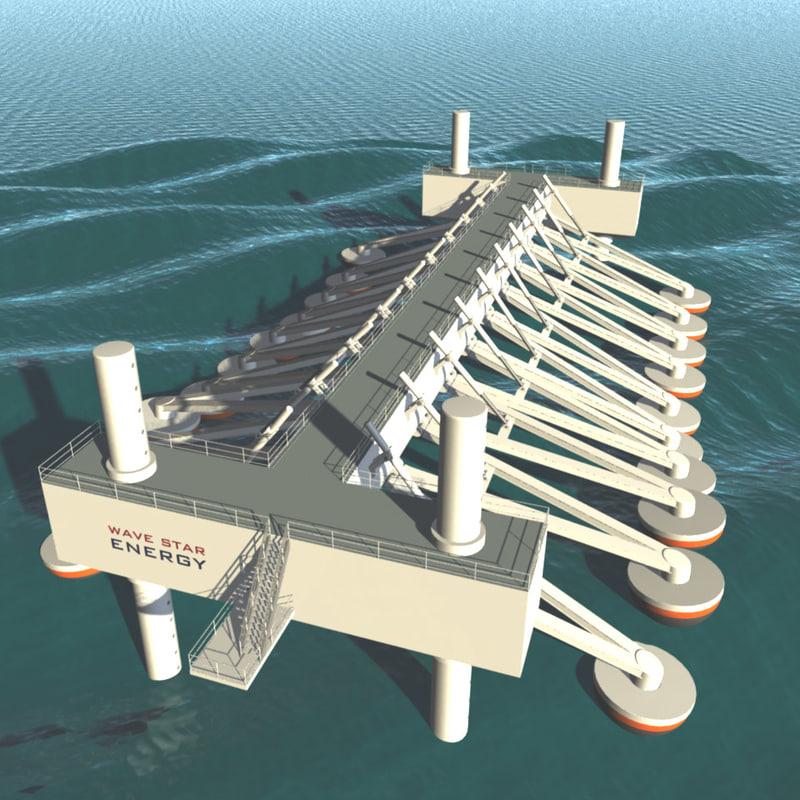 3d model wave energy machine