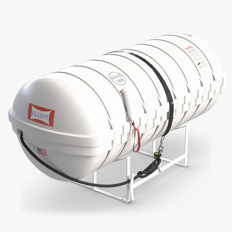 3d life raft container model