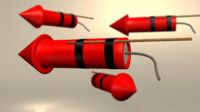 3d model of firework rocket