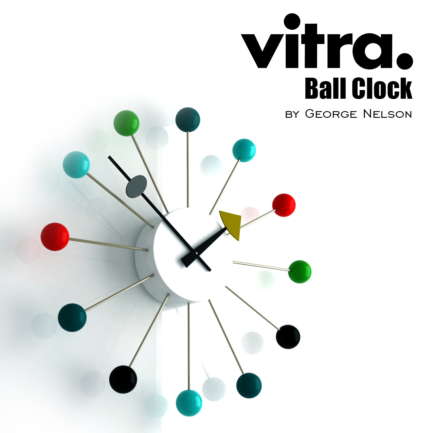 vitra ball clock george nelson 3d 3ds
