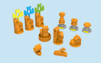 catan printed ships 3d 3ds