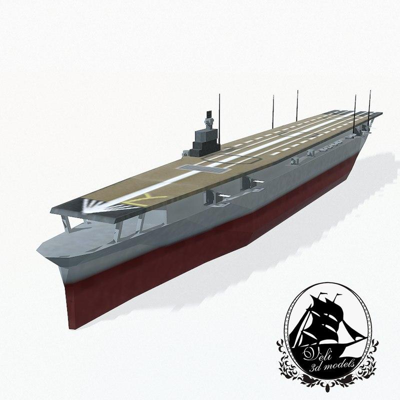 shokaku aircraft carrier 3d max