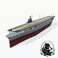 shokaku aircraft carrier 3d max