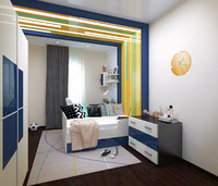 bedroom childroom 3d max