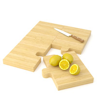 puzzle cutting board woodbob 3d model