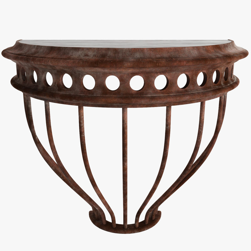 3d model console table iron