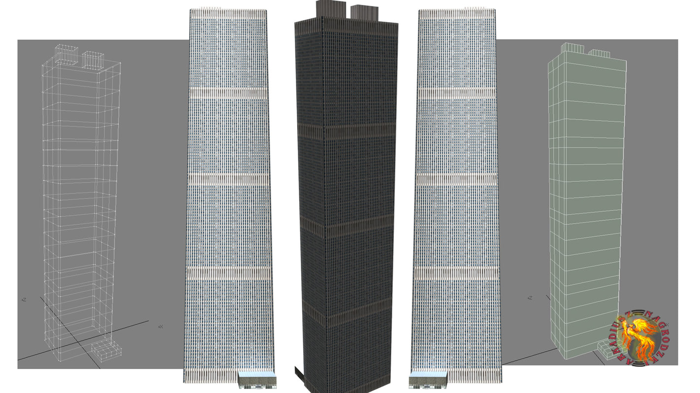shinjuku center building skyscraper 3d model