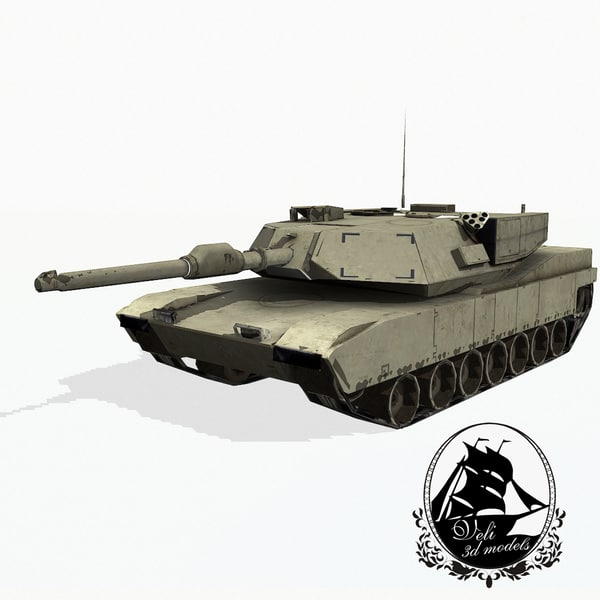 3d model m1 abrams battle tank