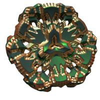 flower sci-fi sci 3d model