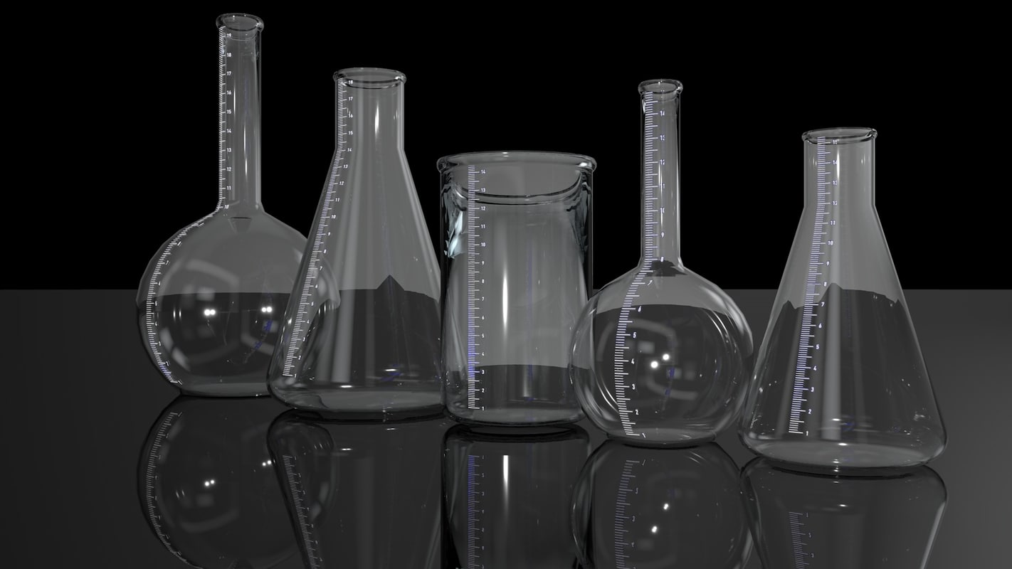 laboratory test tube 3d model