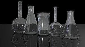 laboratory test tube 3d model