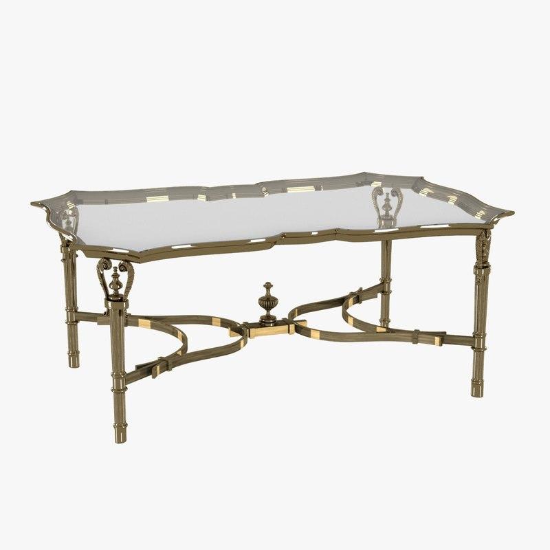table rectangular cast brass 3ds