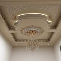 ceiling classic interior 3d model