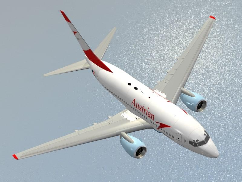 b 737-600 austrian airlines 3d model