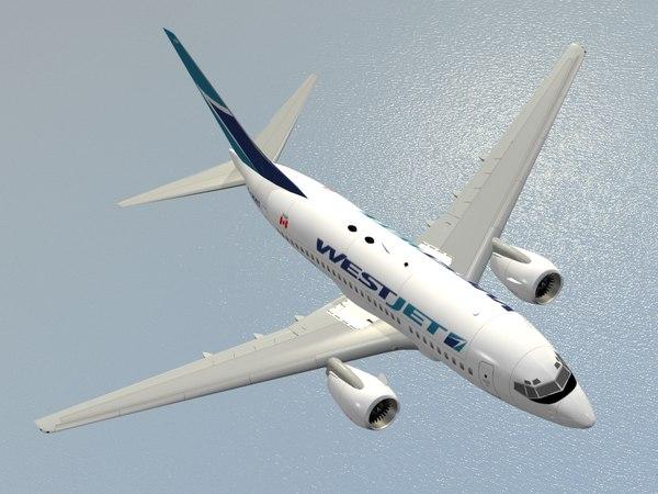b 737-600 westjet 3d model