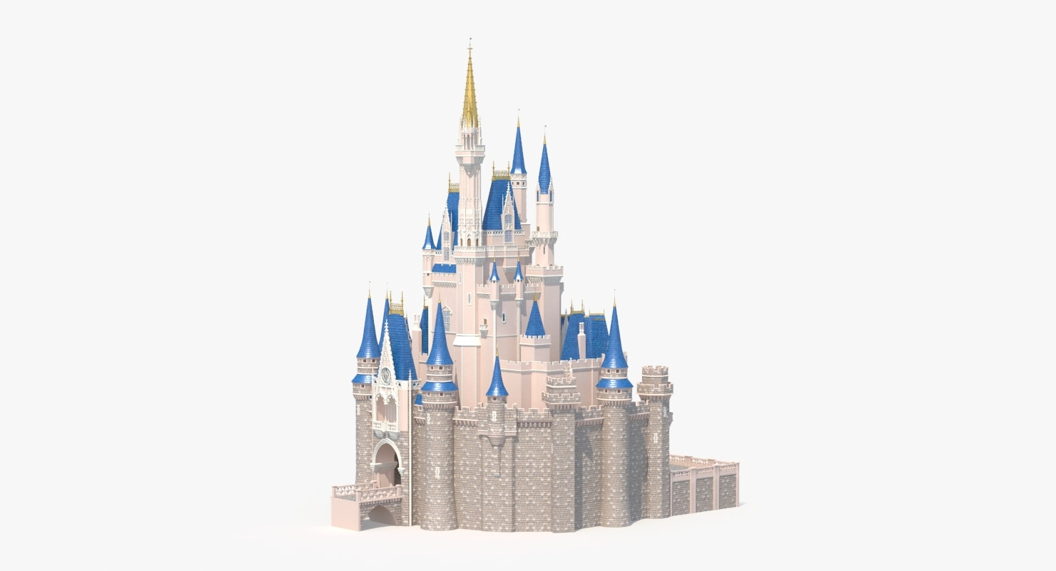 3d max fairytale castle