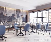modern restaurant 022 3d model