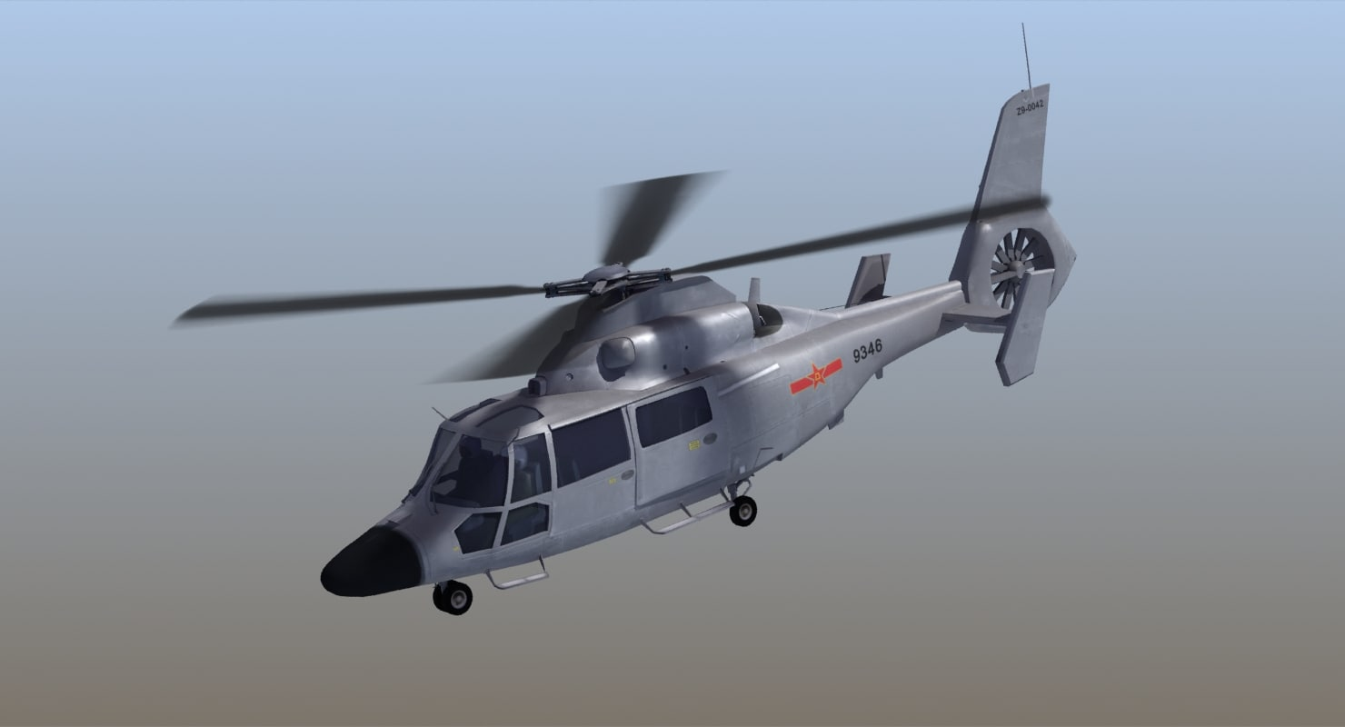3d model z-9c haitun helicopter