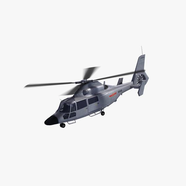 3d model z-9c haitun helicopter