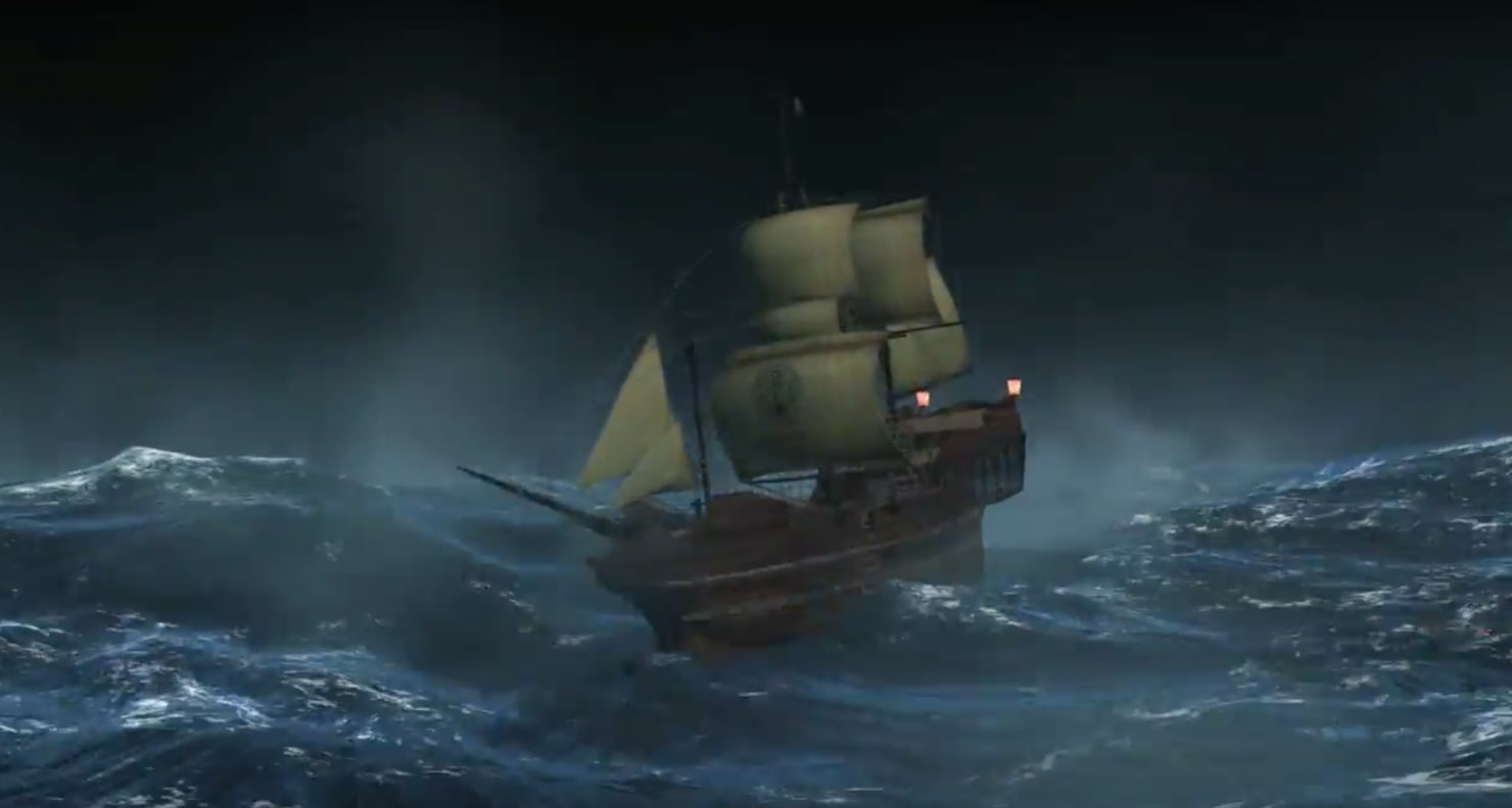 old pirate ship 3d model