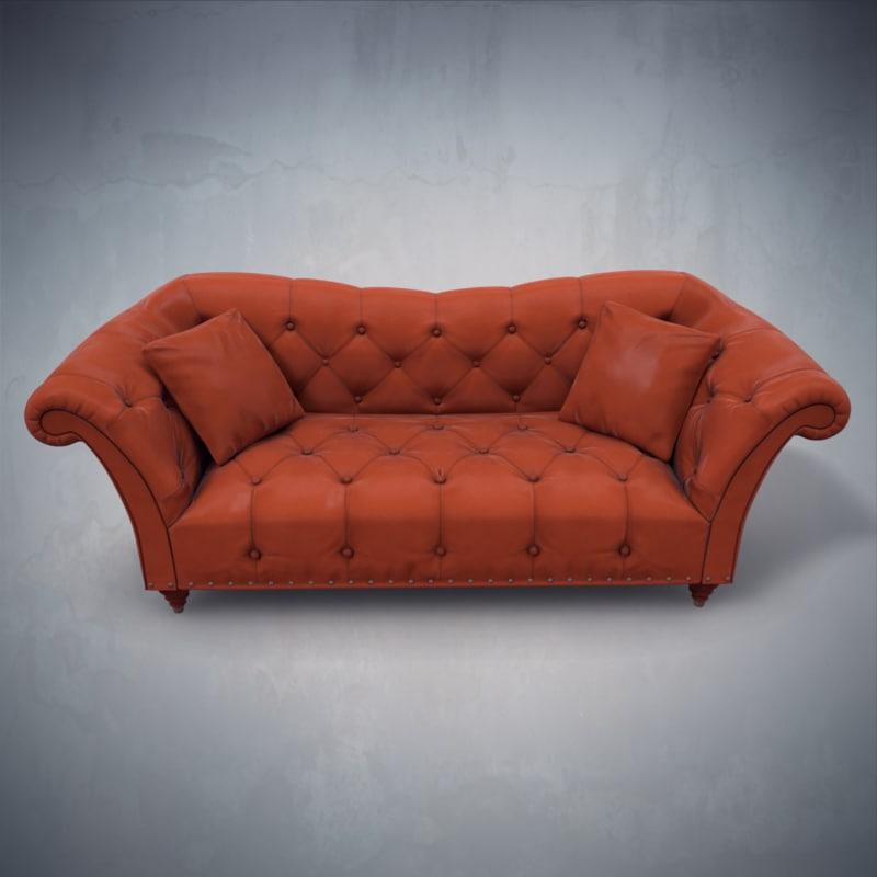 3d leather sofa ellen