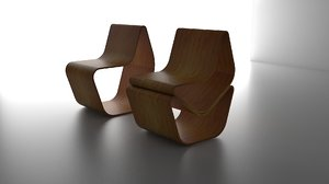 3d model pack chairs
