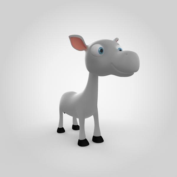 3d donkey model
