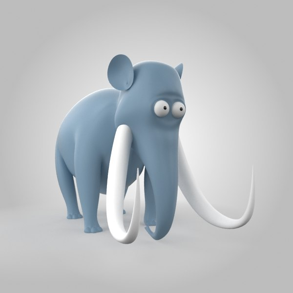 3d character animals elephant