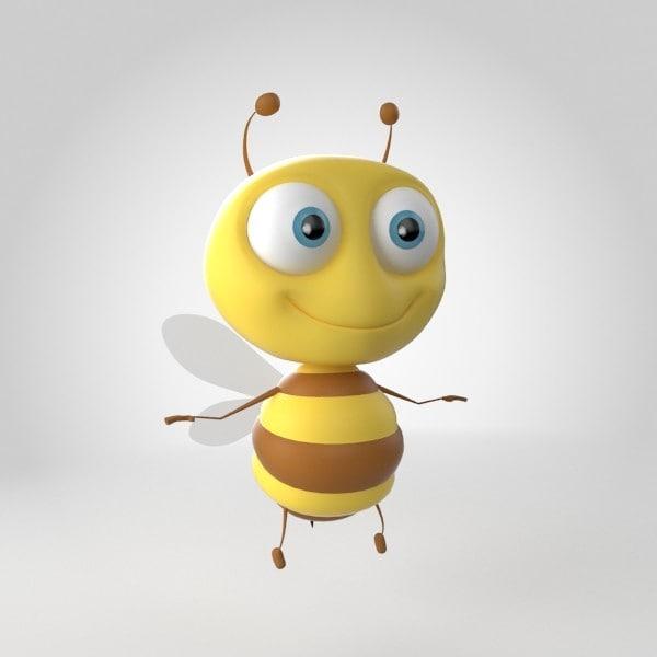 3d max bug bee animals