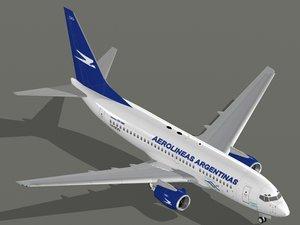 b 737-700 aerolineas argentinas 3d model