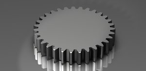 spur gear 48 48p dxf