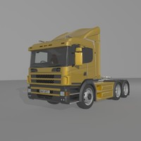 3d model truck semi vehicle