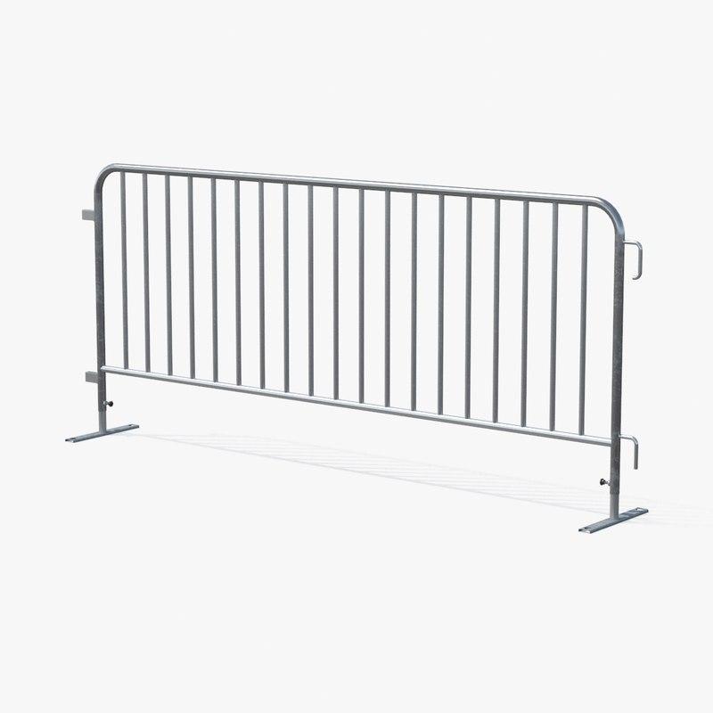 crowd barrier 3d model
