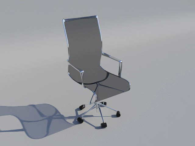 3d ergonomic chair model